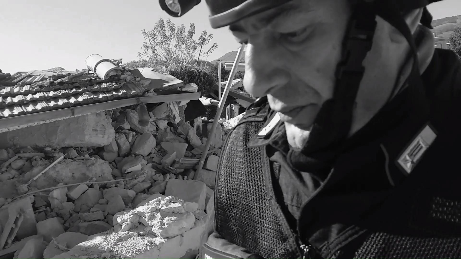 Ricognizione nella Piazza S. Francesco di Accumoli - Scossa 30 ottobre 2016